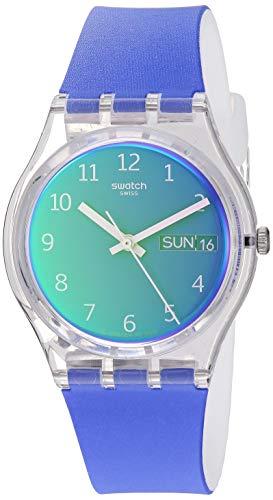 Swatch Transformation Quartz Silicone Strap, Purple, 16 Casual Watch (Model: GE718)