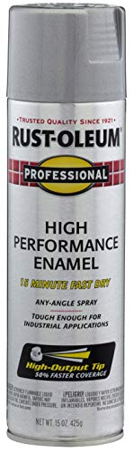 Rust-Oleum 7515838 Professional High Performance Enamel Spray Paint, 14 oz, Aluminum