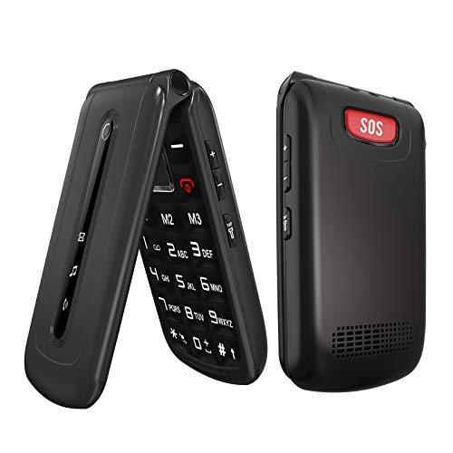 Ushining 3G Unlocked Flip Phone SOS Big Button T Mobile Flip Phones Unlocked Large Volume Easy to Use Mobile Phone for Senior & Kids (Black)