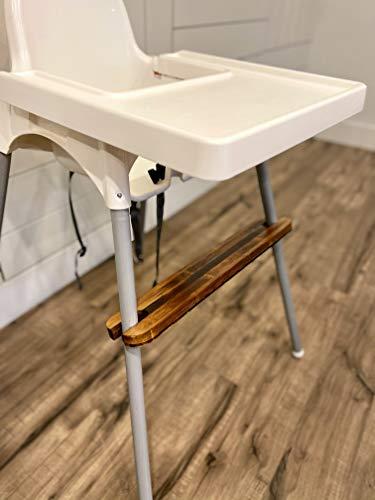 Highchair Footrest for IKEA Antilop Baby Highchair Natural Wood Bamboo Footrest (Dark)
