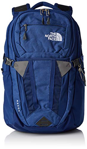 The North Face Recon Laptop Backpack, Flag Blue Dark Heather & TNF White, One Size