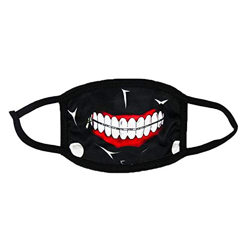 Novelty Anime Face Mask Reusable Cotton Mouth Masks Washable Halloween Cosplay Props