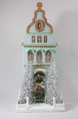 Cody Foster Mint Green Tall City Townhouse Christmas Village House