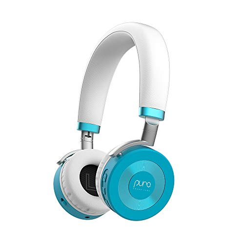JuniorJams Volume Limiting Headphones for Kids 3+ Protect Hearing – Foldable & Adjustable Bluetooth Wireless Headphones for Tablets, Smartphones, PCs – 22-Hour Battery Life by Puro Sound Labs, Teal