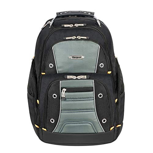 Targus Drifter II Backpack Design for Business Professional Commuter with Large Compartments, Durable Water Resistant, Hidden Zip Pocket, Protective Sleeve fits 16-Inch Laptop, Black/Gray (TSB238US)