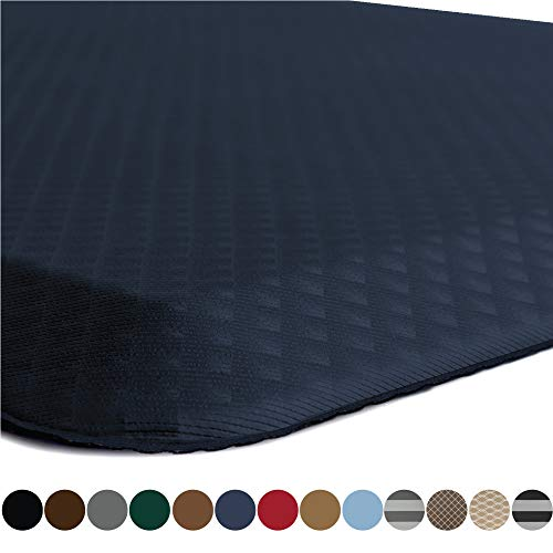 Kangaroo Original Standing Mat Kitchen Rug, Anti Fatigue Comfort Flooring, Phthalate Free, Commercial Grade Pads, Ergonomic Floor Pad for Office Stand Up Desk, 32x20, Navy
