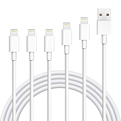 iPhone Charger,Atill 5 Pack 3ft/3ft/3ft/6ft/10ft Lightning Cable iPhone Charging Syncing Cord Charger Cable Compatible iPhone X 8 8Plus 7 7Plus 6s 6sPlus 6 6Plus SE 5 5s 5c more