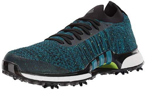adidas Men's TOUR360 XT Primeknit Golf Shoe, core Black/Active Teal/Solar Slime, 12 Medium US