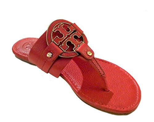 Tory Burch Amanda Flat Thong Tumbled Leather Sandals 7.5