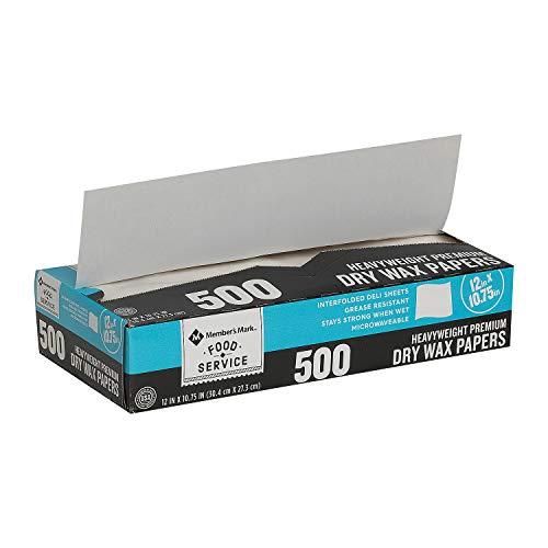 Member's Mark Wax Paper Sheets 12' X 10.75' 2pk. (Total 1000 Count)