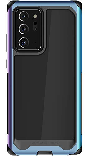 Ghostek Atomic Slim Phone Case for Note 20 Ultra Clear Protective Aluminium Bumper Rugged Heavy Duty Shockproof Mystic Phone Protector Cover for 2020 Galaxy Note20 Ultra 5G (6.9 Inch) - (Prismatic)