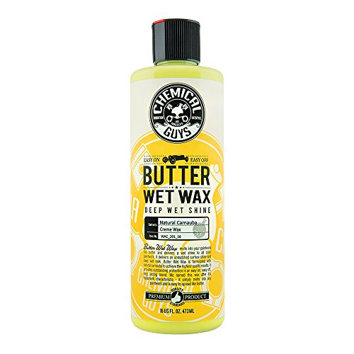 Chemical Guys WAC_201_16 Butter Wet Wax Liquid Cream Car Wax (Safe for all Finishes Including Ceramic Coatings), 16 oz., Banana Scent