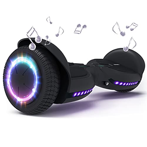 TOMOLOO Hover Boards for Kids, Hoverboards Bluetooth and LED Lights with Speaker,Self Balancing Hoverboard for Adults