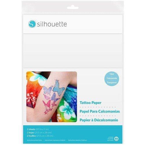 Silhouette America Temp Tattoo Paper, 8.5x11 Inches, Basic