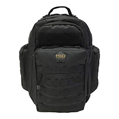 Diaper Bag Backpack for Dad - Large Baby Bag for Men with Travel Changing Pad, Unisex Toddler Gear (Black)