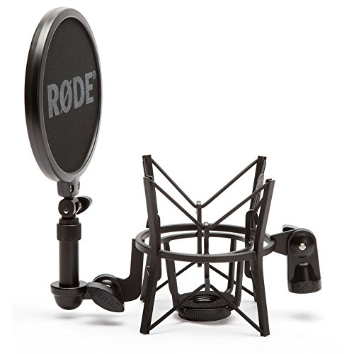 Rode SM6 Microphone Shock Mount with Integrated Pop Shield,Black