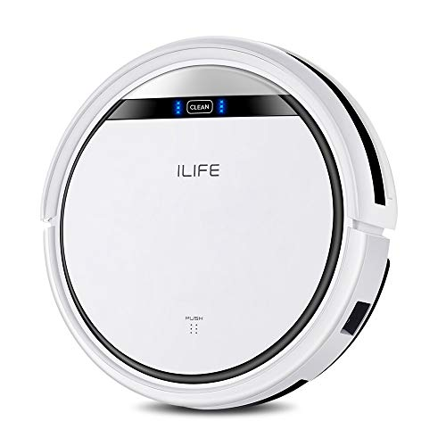 ILIFE V3s Pro Robot Vacuum Cleaner, Tangle-free Suction , Slim, Automatic Self-Charging Robotic Vacuum Cleaner, Daily Schedule Cleaning, Ideal For Pet Hair,Hard Floor and Low Pile Carpet
