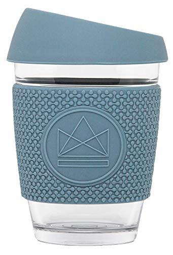 Neon Kactus - Reusable Glass Coffee Cup/Travel Mug Super Sonic
