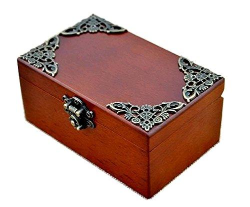 Anakin.jerry Vintage Wood Rectangle Jewelry Wind Up Music Box : Elfen LIED - Lilium Theme (Soundtrack)