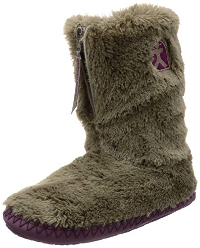 Bedroom Athletics Monroe Faux Fur Slipper Boots (Moonrock/Plum, 7)