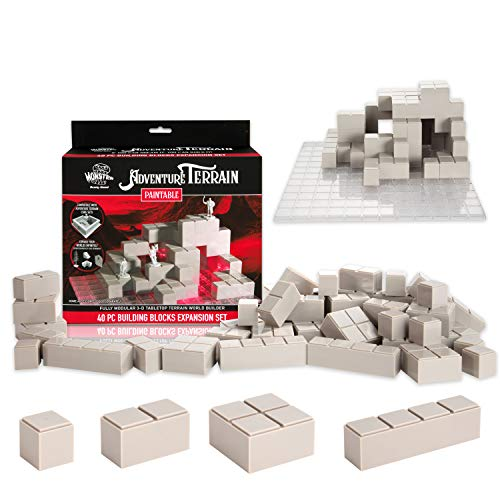 Monster Adventure Terrain - 40pc Stackable Building Block Expansion Set - Fully Modular and Stackable 3-D Tabletop World Builder Compatible with DND Dungeons Dragons, Pathfinder, and All RPG Games