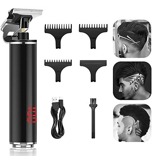 T Blade Trimmer,Teamyo Upgrade Zero Gapped Trimmers with LED Display,Rechargeable Hair Trimmer 0mm Baldhead Cordless Hair Clippers for Men