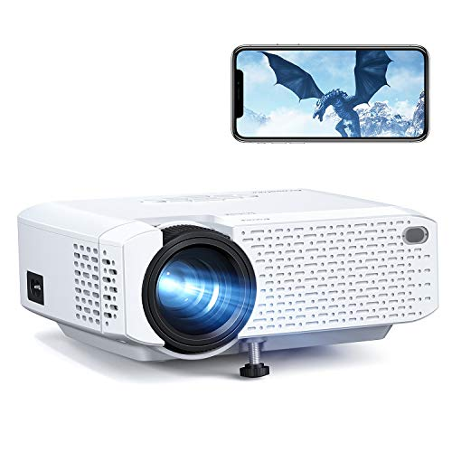 Crosstour Mini Wi-Fi Phone Projector, Wireless Portable LED Video Projector Supports 1080P Movie, 176'Display Home Theater Screen Mirroring, Supports HDMI/USB/TV Stick/iPhone/Android/Tablet