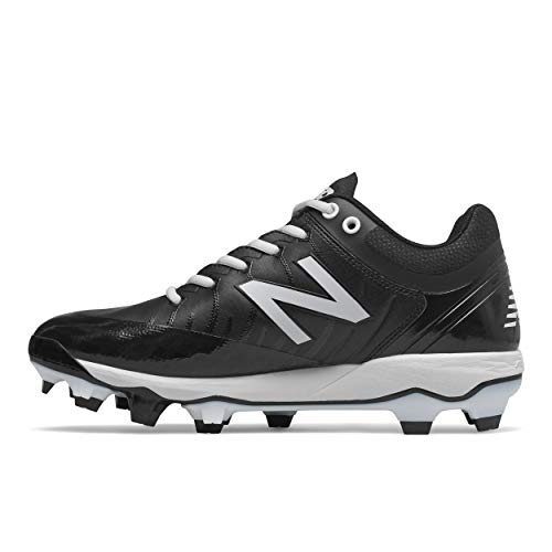 New Balance Men's 4040 V5 TPU Molded Baseball Shoe, Black/White, 7.5 W US