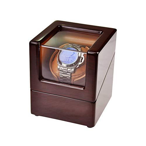 Watch Winder Box for Automatic Watches or Rolex Double Spacious for Any Size, Craftsmanship Bamboo Wood Patent Housing Case, AC or Battery Powered Super Quiet Japanese Motor by Watch Winder