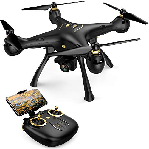 DROCON Drone with 1080P FPV HD Camera, 5G WiFi Adults RC Quadcopter, GPS Drones with Follow Me/Auto Return Home Mode, Long Control Range Outdoor Drone, Easy to Use for Beginner, Black