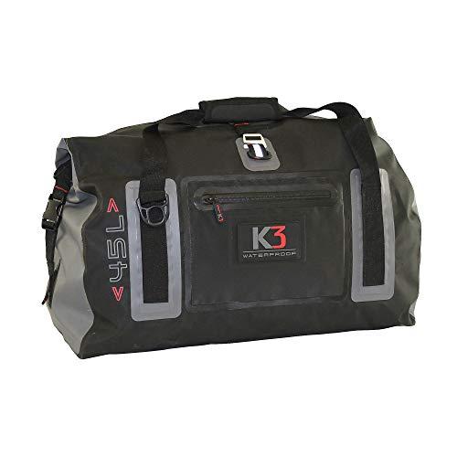 K3 Icon Waterproof Roll Top Duffel Bag Black 45 Liters