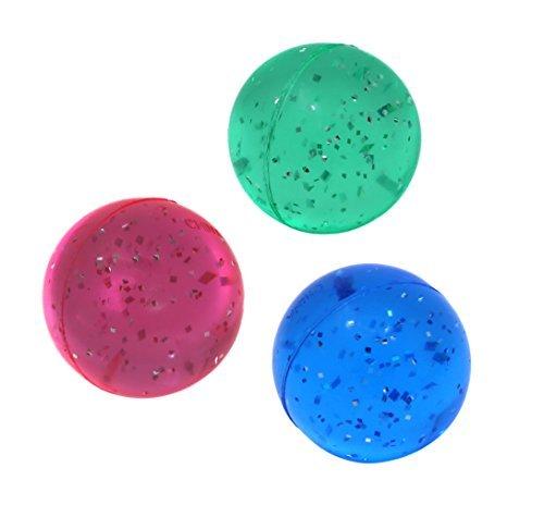 SNInc. Glitter Bouncing Balls - Party Favor Pack of 30 Super Balls
