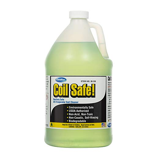 Comstar 90-298 Coil Safe Professional Grade Neutral pH Evaporator and Condenser Coil Cleaner, 1 gal Container, Green