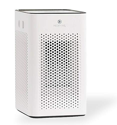 Medify Air MA-25-W1 with H13 HEPA filter - a higher grade of HEPA for 500 Sq. Ft. Air Purifier | Dual Air Intake | Two '3-in-1' Filters | 99.9% removal in a Modern Design - White