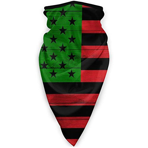 Wooden Texture Pan African Afro Rbg American Flag Windbreak Scarf Dust Mask Nose And Mouth Face Mask Reusable Balaclava Bandana