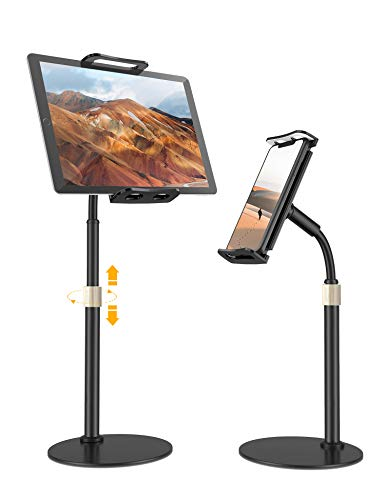 Tablet Holder Stand – Tryone Adjustable iPad Holder Stand with Adjustable Height & 360 Degree Rotating, Desktop Tablet Stand for iPad/iPhone/Nintendo Switch/Samsung Galaxy Tabs/Kindle and More(4-11'')