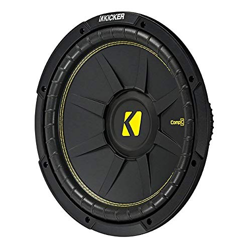 KICKER 10 Inch CompC 500 Watt 4 Ohm Single Voice Coil SVC Subwoofer | 44CWCS104