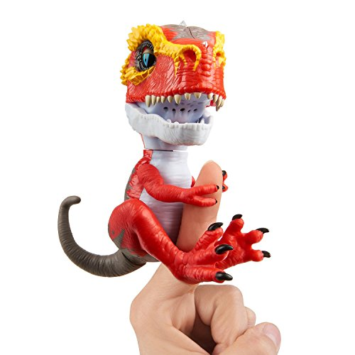Untamed T-Rex by Fingerlings – Ripsaw (Red) - Interactive Collectible Dinosaur - By WowWee