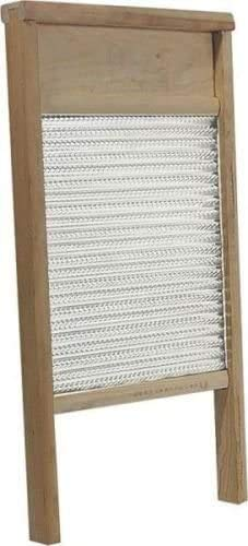 COLIBROX Large Galvanized Double Face Metal & Wood Washboard 12 X 24