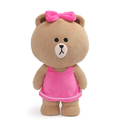 GUND LINE Friends Choco Standing Plush Stuffed Animal Bear, Brown, 14', Multicolor, Large