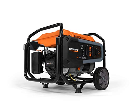 Generac 7677 GP3600 Portable Generator, Orange, Black