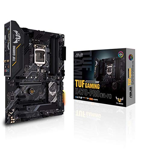 ASUS TUF Gaming H470-PRO WiFi 6 LGA1200 (Intel 10th Gen) ATX Gaming Motherboard (WiFi 6, Intel 1Gb LAN, Front Panel TypeC Connector, Addressable Gen 2 RGB Header and Aura Sync)