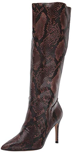 Steve Madden Women's Kinga Fashion Boot, Brown Snake, 7 M US