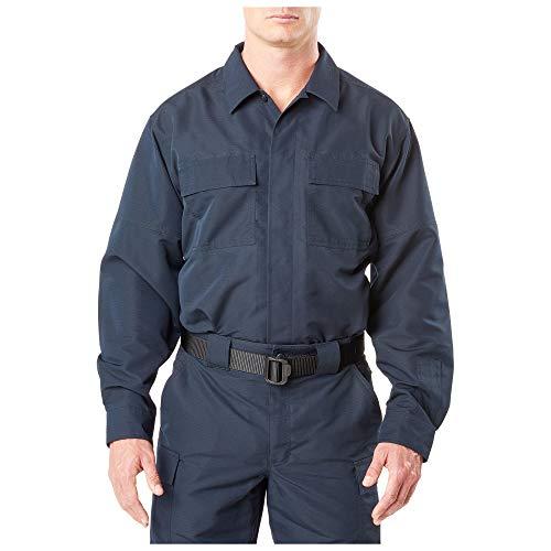 5.11 Tactical Men's Fast-TAC TDU Long Sleeve Shirt, Style 72465, Dark Navy, Large