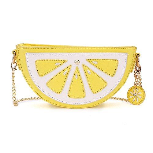 FANCY LOVE Lemon multi function Cross-body Messenger Shoulder Hand Bag Purse for Women and Girls (Lemon)