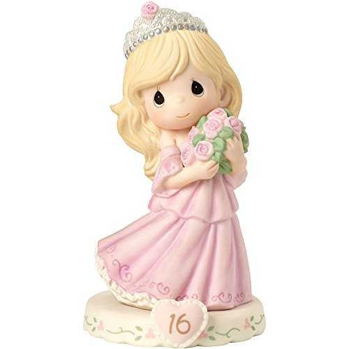 Precious Moments 162015 Growing In Grace, Age 16, Bisque Porcelain Figurine, Blonde Girl