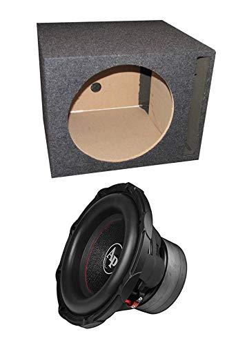 Audiopipe TXX-BD3-12 12' 1800W Car Audio Subwoofer + Single Vented Sub Box