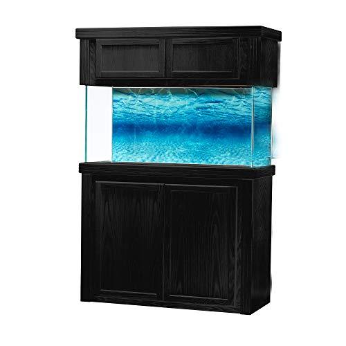 R&J Enterprises Oak Xtreme 48'X18' 36' Tall Aquarium Stand fits & Oak Xtreme 15' Tall Reef Canopy with Doors fits75/90 Gal(Tank NOT Included) (Black)