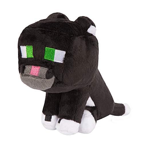 JINX Minecraft Tuxedo Cat Plush Stuffed Toy, Black/White, 8' Tall