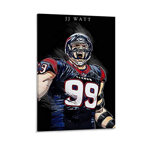 caomei JJ Watt Poster Decorative Painting Canvas Wall Art Living Room Posters Bedroom Painting 20x30inch(50x75cm)